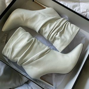 Tony Bianco Lane White Sheep Napa Bootie